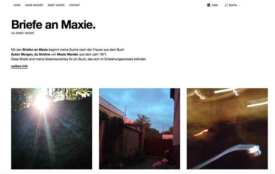 Briefe an Maxie