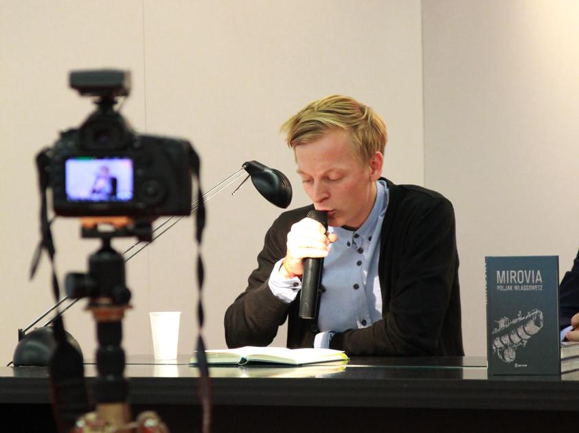 Poljak Wlassowetz liest aus seinem Roman »Mirovia«