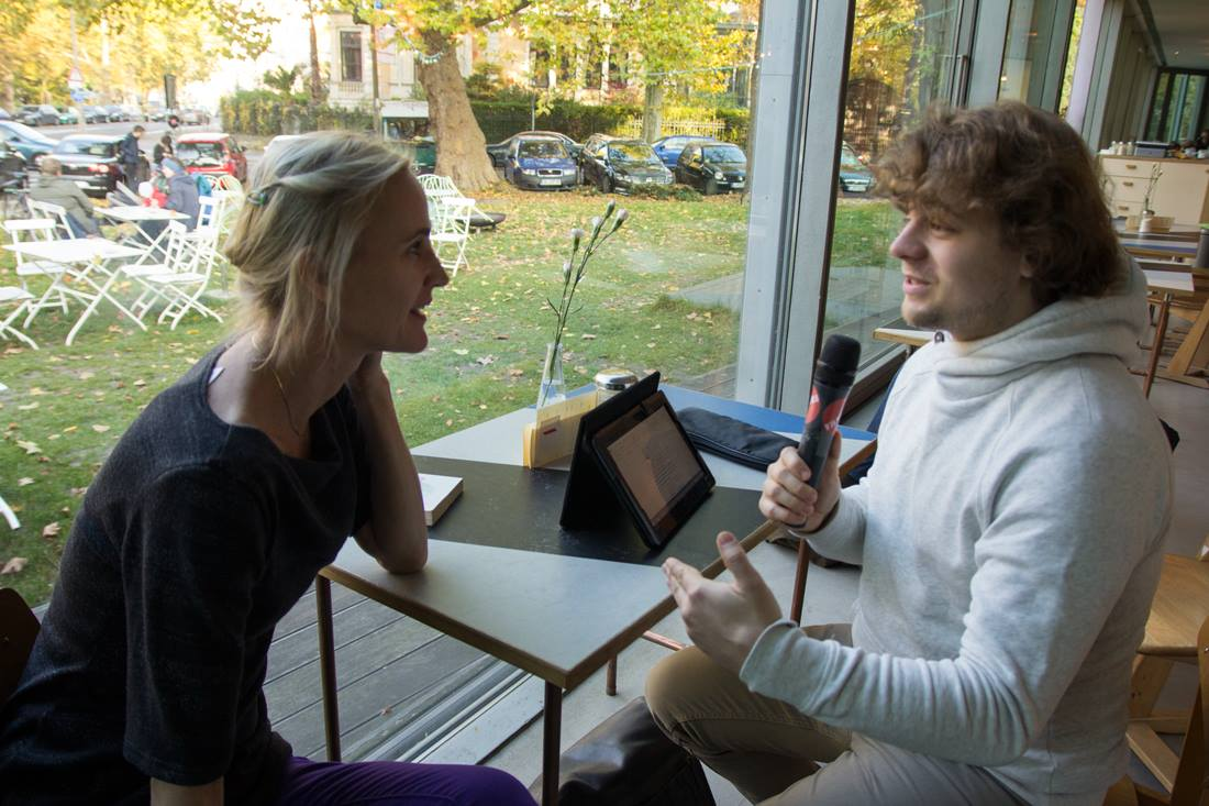 Paula Bomer im Interview mit Thilo Körting