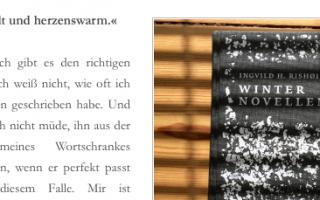 Die WINTERNOVELLEN im Hotlistblog und auf »we read indie«