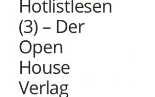 Porträt des Open House Verlags